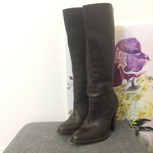 Steve Madden Brown High Heel Leather Boots